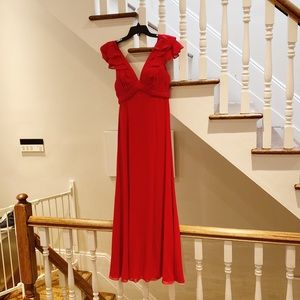 Escasa Red Gown